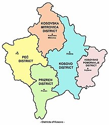 Kosovo-Suddivisioni-Districts kosovo