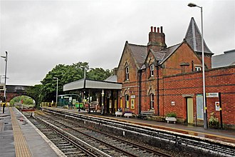 Hooton railway station - The booking office.