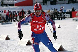 English: Dmitri Yarochenko during sprint in Po...