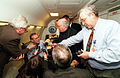 Donald Rumsfeld meets with reporters, 2001.jpg