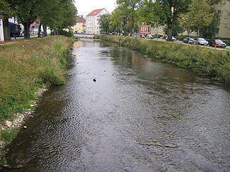 Die Brigach in Donaueschingen