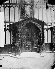 Door in Plas Newydd, Llangollen