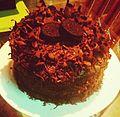Double Decker Oreo and chocolate cake.JPG