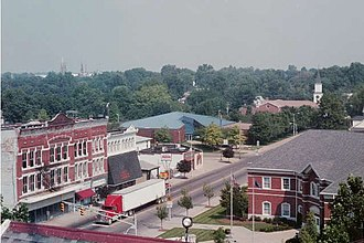Mount Vernon, Indiana - Image: Down main from courthouse