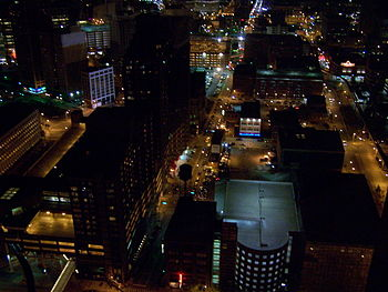 Downtown Detroit night shot from the 36th floo...