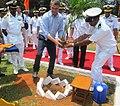 Dr Ashton Carter undertook customary tree plantation at Karwar Naval Base.JPG