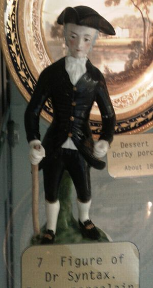 William Combe - A Derby Porcelain figure of Dr Syntax in Derby Museum