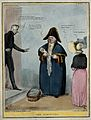 Dressed as a parish beadle John Bull carries a bundle inscri Wellcome V0050256.jpg