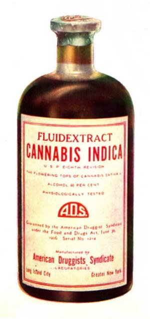 Tincture of cannabis - Image: Drug bottle containing cannabis