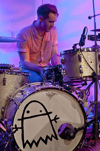 Jukebox the Ghost - Drummer Jesse Kristin of Jukebox the Ghost on tour supporting their new album, Safe Travels. Space Gallery Portland, Maine June 16th, 2012