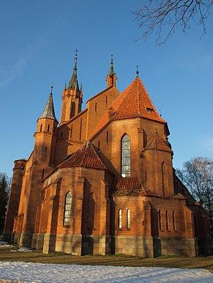 How to get to Druskininkų Švč. Mergelės Marijos Škaplierinės Bažnyčia with public transit - About the place