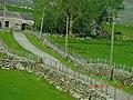 Drystone Fences at Clynnog - panoramio.jpg