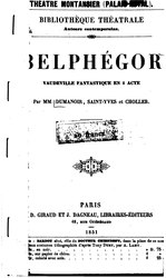 Belphégor: vaudeville fantastique