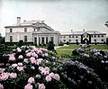 Dupont Estate - flowers in forefront with house in the back (5168303306).jpg