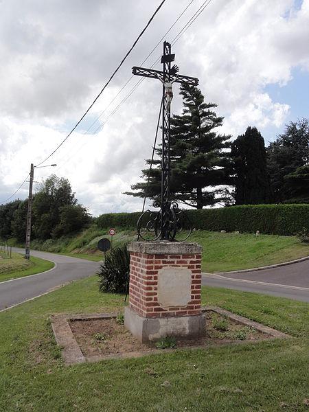 Dury (Aisne) croix de chemin commémorative