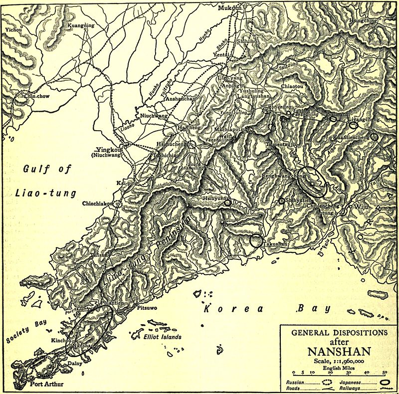 EB1911 Russo-Japanese War - General dispositions after Nanshan.jpg