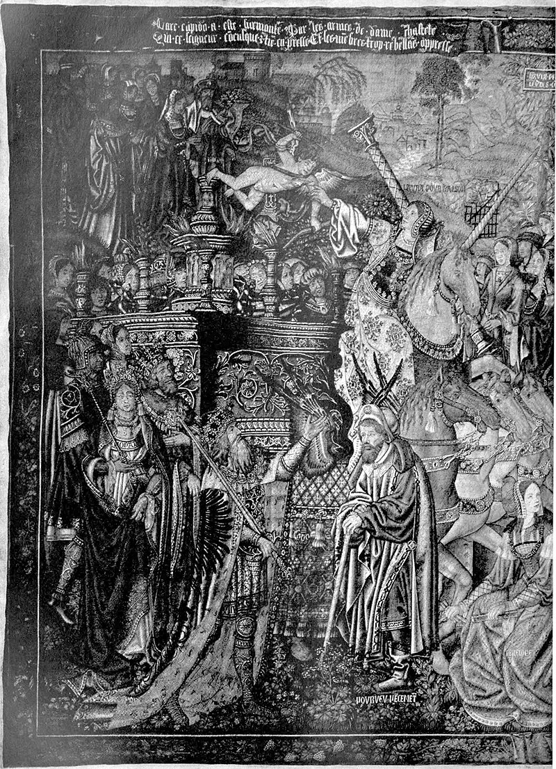 EB1911 Tapestry - Brussels - early 16th century - Triumph of Chastity over Love.jpg