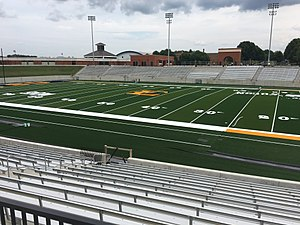 William B. Greene Jr. Stadium - Image: ETSU Football Stadium Home Side