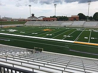 William B. Greene Jr. Stadium - Image: ETSU Football Stadium Home Side