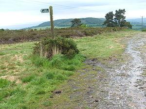 East Devon Way - East Devon way and footpath running through the Fire Beacon Hill site