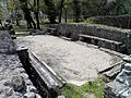 Eastern latrine, the public toilets along the central road, the Greath Baths complex, Ancient Dion (6948376030).jpg