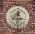 Eberswalde, Papierfabrik Wolfswinkel, Wappen Wolfswinkel.JPG