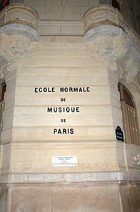Image illustrative de l'article École normale de musique de Paris