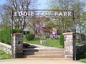 Eddie Foy Sr. - Eddie Foy Park at the corner of Weyman Avenue and Pelham Road in New Rochelle, New York