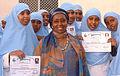 Edna Adan Ismail, with graduate nurses.jpg
