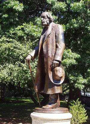 Edward Everett Hale - Edward Everett Hale sculpture by Bela Pratt in the Boston Public Garden Boston, Massachusetts