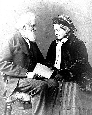 Edward Fordham Flower - Edward Fordham Flower in old age with his wife Celina