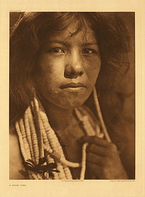 Sonoma County, California - Pomo girl c. 1924, by Edward S. Curtis' from The North American Indian volume 14.