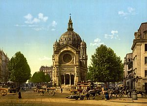 Saint-Augustin, Paris - Image: Eglise Saint Augustin, Paris, France, 1890s