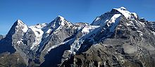 Da sinistra: Eiger, Mönch e Jungfrau
