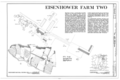 Eisenhower Farm Two, Emmitsburg Road (U.S. 15), Gettysburg, Adams County, PA HABS PA,1-GET.V,13- (sheet 1 of 1).png