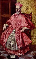 Portrait de Don Fernando Ni�o de Guevara    cardinal de l Inquisition, un des portraits les plus surprenants et les plus inqui�tants de El Greco