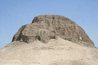 Pyramid of Senusret II building in Egypt