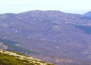 Español: Vista del pico El Nevero desde Peñala...