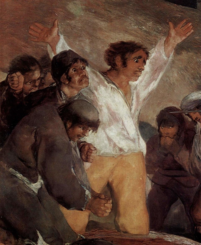 El tres de mayo de 1808 en Madrid (detalle), Francisco de Goya