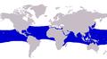 Elagatis bipinnulata distribution.PNG