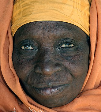 Brown - Image: Elderly Gambian woman face portrait