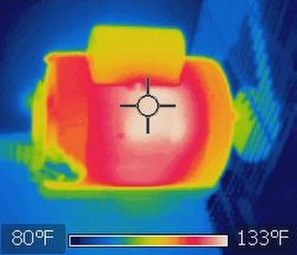 Overheating (electricity) - Image: Electric motor thermal image