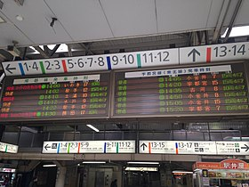 Electronic signage of JR Ueno Station.JPG