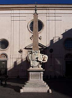 <i>Elephant and Obelisk</i> Sculpture designed by Gianlorenzo Bernini