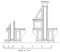 Elevation of book-desks and reader's seats, Biblioteca Laurentiana, Florence — On the Vatican Library of Sixtus IV.png