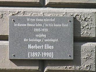 Norbert Elias - The plaque for Norbert Elias in Wrocław