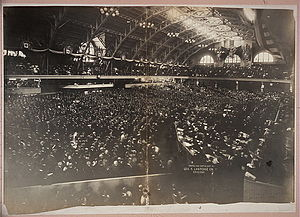 1904 Republican National Convention - Crowds hear Elihu Root deliver the convention's  opening speech