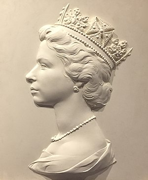 George IV State Diadem - Sculpture used to make the Machin series of stamps