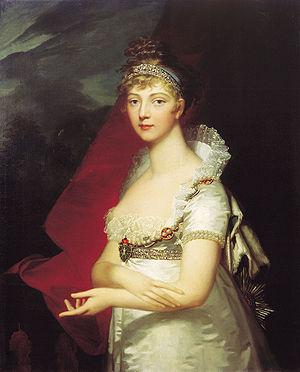 Elizabeth Alexeievna (Louise of Baden) - Elizabeth Alexeievna, by Jean-Laurent Mosnier