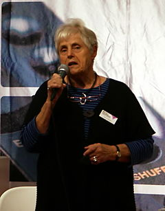 Elsie Johansson på Bok- & Biblioteksmässan i Göteborg 2008.